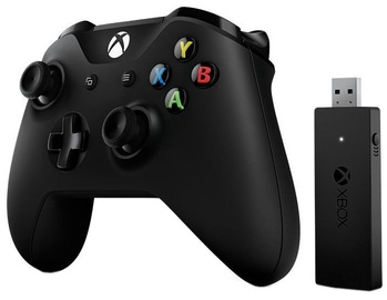 Microsoft Xbox One S Controller And Wireless Adapter For Windows 10 Black