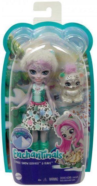 Nukk Mattel Enchantimals Sybill Snow Leopard & Flake GJX42
