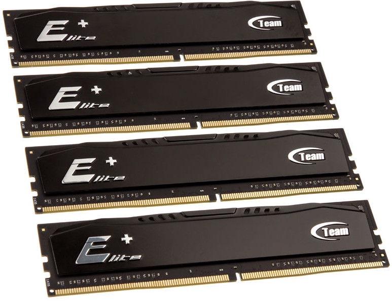 Team Group Elite Plus Black 16GB 2400MHz CL16 DDR4 KIT OF 4 TPKD416G2400HC16QC01