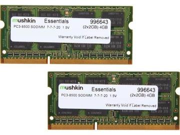 Operatiivmälu (RAM) Mushkin Essentials 996643 DDR3 4 GB