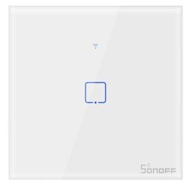 Nutikas puute seinaga WiFi-lüliti Sonoff T2EU1C-TX, 1 kanal, 600W, 230 VAC (SONOFF-pult pole komplektis)