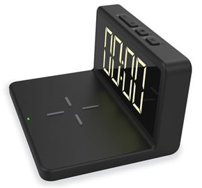 Platinet Alarm Clock with Wireless Charger