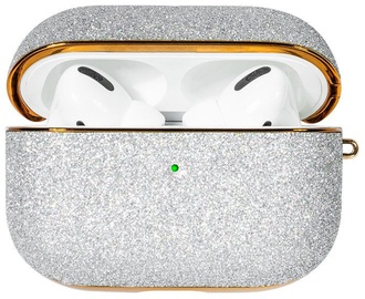 Kingxbar Bling Shiny Glitter Case For Apple AirPods Pro Silver