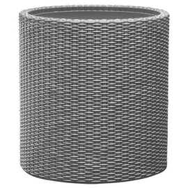 Keter Small Cylinder Planter Silver Grey