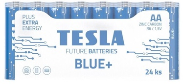 Tesla Blue+ R06 Batteries AA 900mAh 24pcs