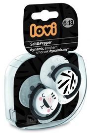 Lovi Dynamic Soother Salt&Pepper 6-18m 2pcs 22/879