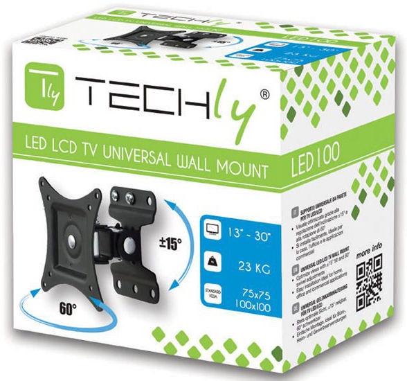 """Techly Wall Mount For TV Full Motion 13-30"""""""
