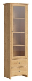Black Red White Porto REG1W2S Glass Door Cabinet Burlington Oak