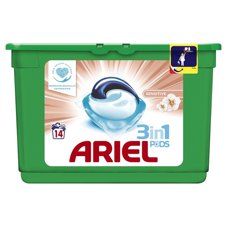 Ariel kapslid Sensitive 14 tk