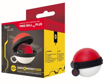 Steel Play Poke Ball Plus Controller Carry and Protect Case