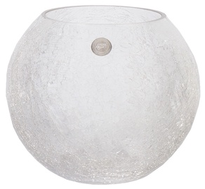 Ваза Home4you Bowl Crack Glass, 210 мм