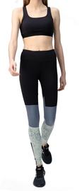 Audimas Womens Printed Shaping Tights Black Grey XL