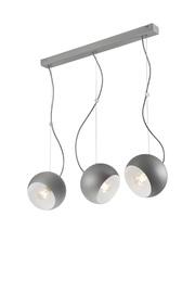 Lamkur Inez 37523 Ceiling Lamp 3x60W E27 Silver