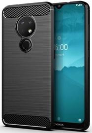 Hurtel Carbon Back Case For Nokia 7.2/Nokia 6.2 Black