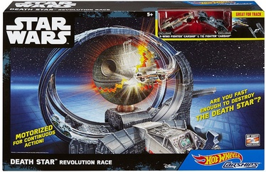 Mattel Hot Wheels Star Wars Carships Death Star Revolution Race Track Set DHH82