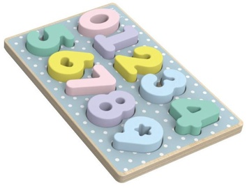 Iwood Wooden Number Puzzle Pastel Color