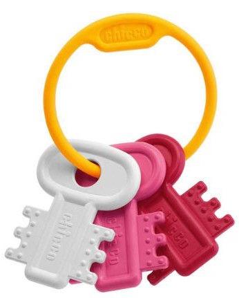 Chicco Teething Key Ring Pink