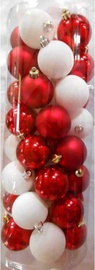 Jõulupuu ehe Verners White/Red, 50 mm, 40 tk