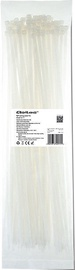 Qoltec Zippers Nylon UV 4.8x400mm 100pcs. White