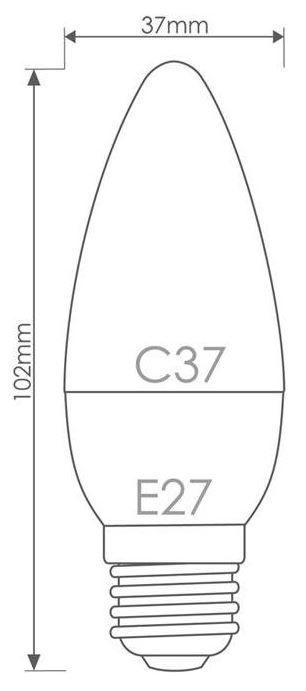 Whitenergy LED Bulb E27 5W 230V Warm White