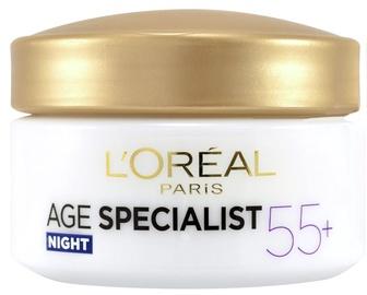 Näokreem L´Oreal Paris Age Specialist 55+ Night Cream, 50 ml