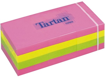 3M Tartan Sticky Notes 12x100pcs Neon Colors