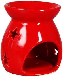 Verners Candle Holder 9x9x9cm Red 229810