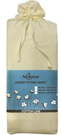 Ardenza Jersey Fitted Sheet 180-200x200cm Ecru
