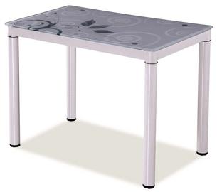 Обеденный стол Signal Meble Damar White, 800x600x750 мм