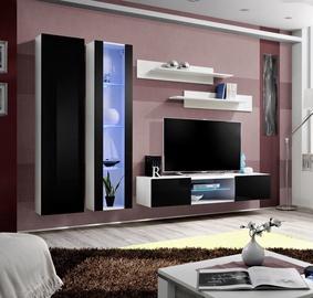 ASM Fly O4 Living Room Wall Unit Set Black/White