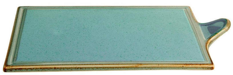 Porland Seasons Cheese Serving Plate 29.57x17.74cm Turquoise