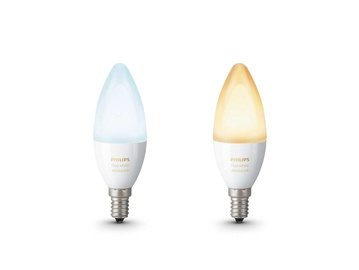 Philips LED Hue White Bulb E14 6W B39 2-Pack