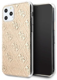 Guess 4G Glitter Back Case For Apple iPhone 11 Pro Gold