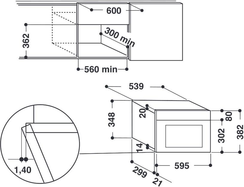 Integreeritav mikrolaineahi Whirlpool AMW440IX