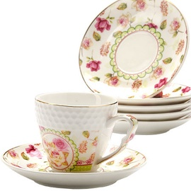Mayer & Boch Coffee Set 6pcs Roses 9cl 25792