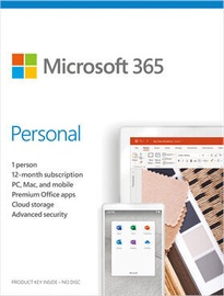 Microsoft Office 365 Personal Retail 1-Year Russian License Medialess