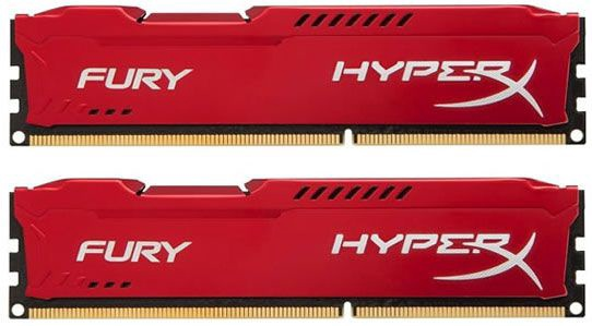 Kingston 16GB DDR3 PC14900 CL10 DIMM HyperX Fury Red Series KIT OF 2 HX318C10FRK2/16