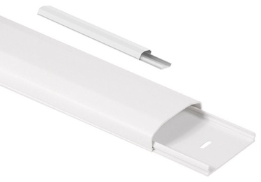 Maclean Cable Cover Strip White