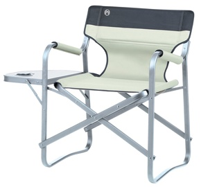 Coleman Deck Chair With Shelf Khaki