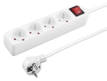 Esperanza Titanum 4-Way Power Cord White 1.5 m