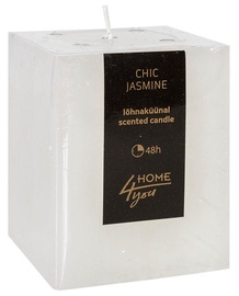 Lõhnaküünal Home4you Candle Chic Jasmine 7.5x7.5xH10cm White, 48 h