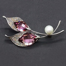 Diamond Sky Brooch Crystal Branch IX With Swarovski Crystals
