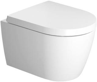 Seinapealne WC-pott Duravit ME By Starck Compact Rimless, kaanega, 370x480 mm
