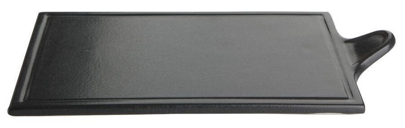Porland Seasons Cheese Serving Plate 29.57x17.74cm Black