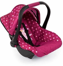 Bayer Deluxe Dolls Car Seat With Canopy Pink