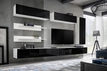 ASM Fly L1 Living Room Wall Unit Set Black/White