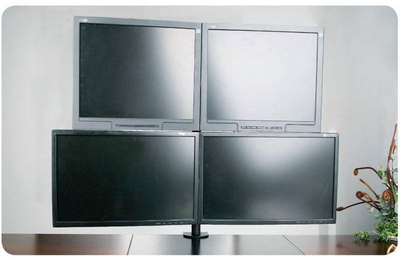 "Techly Quadruple Desk Monitor Arm Adjustable 13-27"""