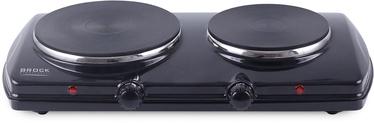 Brock Electric Double Hotplate Black 1500W