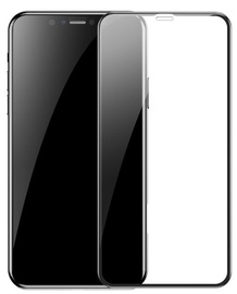 Baseus Full Coverage 3D Screen Protector For Apple iPhone 11 Pro Max/XS Max Black