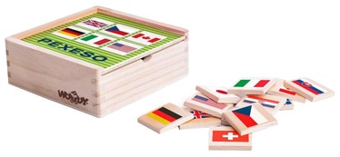 Lauamäng Woodyland Wooden Memory Game Flags 44pcs